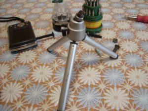 Ремонт маленького штатива для фотокамер