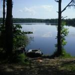 Отдых+рыбалка на лесном озере 2014