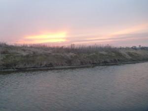 Закат на речке Стыр