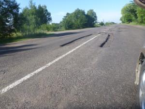 Ямы на дороге Т1806