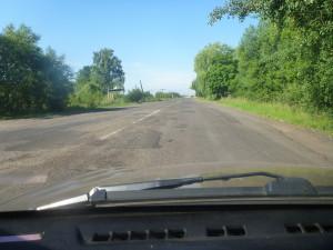 Ямочный ремонт на дороге Т1806