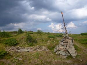 На вершине горы Братковская