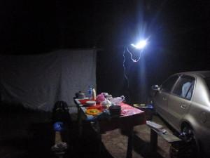 Наш лагерь в ночи